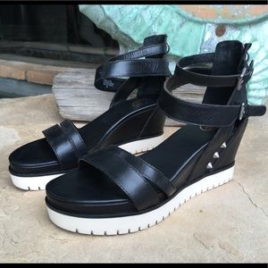 Ash Penelope Sandals - Black Leather sz 40 or 10